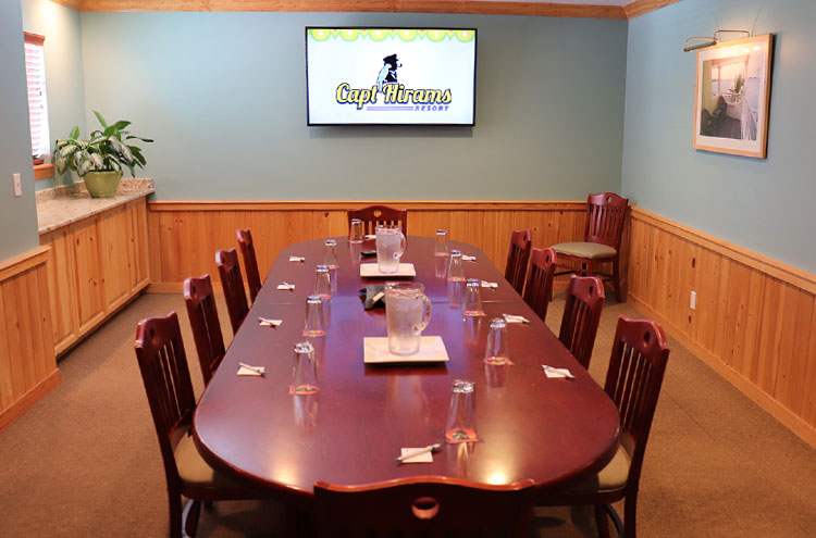Captain Hiram Resort board room