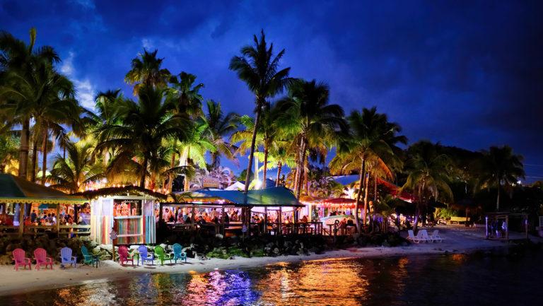 Capt Hirams Resort at Night